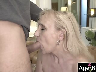 Granny Nanney begs Mugur for some hot sex blonde blowjob fucking