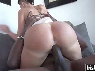 Tattooed chick wants a black cock big cock fucking interracial