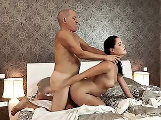 DADDY4K. Mature guy doesnt waste chance to satisfy sons gf matures girlfriend granny