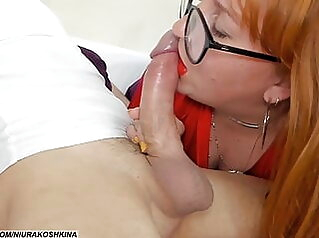 Mommy Teases My Big Cock Again, Can't Resist It blowjob bbw redhead