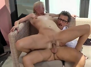 Naughty And Horny Busty Milf Pleasing Her New Business Guy amateur big tits blowjob
