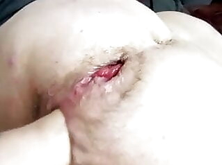 Grandpa destroys grandma's holes hairy mature tits