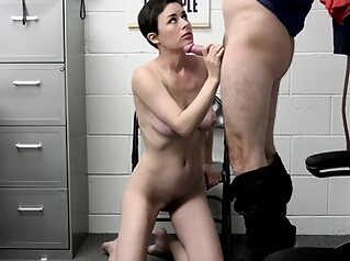 Mature Lady Thief Olive Glass Gets Busted and Fucked big boobs blowjob hardcore