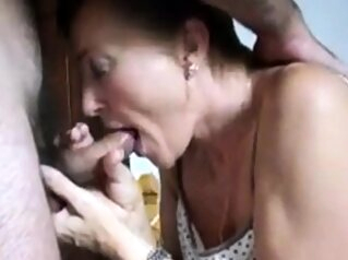 Mature lady blowjob handjob and cum in mouth amateur blowjob cumshot