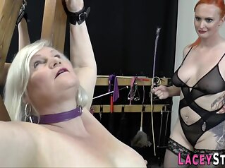 Old Full-breasted Skank Gets Tongued bdsm big ass blonde