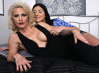 Hot Milf Getting Licked By A Naughty Lesbian Teeny Babe - MatureNL big ass big tits cunnilingus