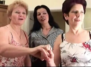 Granny has a lesbian adventure with a younger slut big tits cunnilingus granny