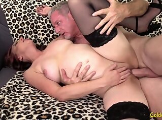 Golden Slut - Older Floozy Gets a Dicking Compilation brunette compilation granny