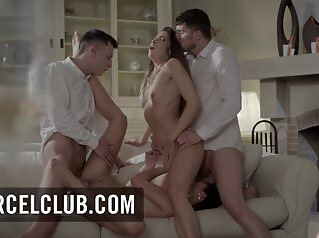 Indecent Foursome With Clea Gaultier And Katy Rose big ass brunette group sex