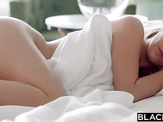 BLACKED, Hotwife Alexis films herself fucking hubby's friend blowjob brunette creampie