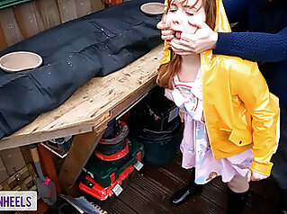 'Please Don't Tell My Parents' Caught & Fucked – Shannonheels amateur blowjob hidden camera