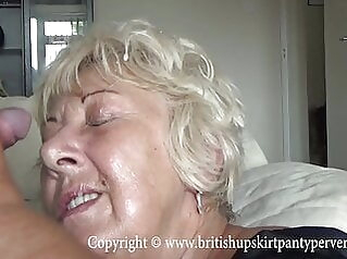 British mature amateur takes a huge facial in her own home amateur cumshot mature