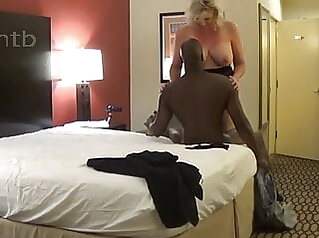Giant blonde fucks bull and squirts on huge black dick squirting milf doggy style
