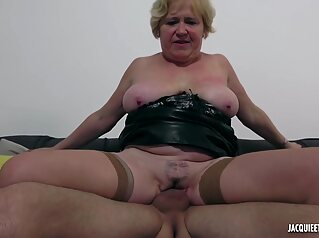 French Granny Spreads Legs To Makes Love hd blonde stockings